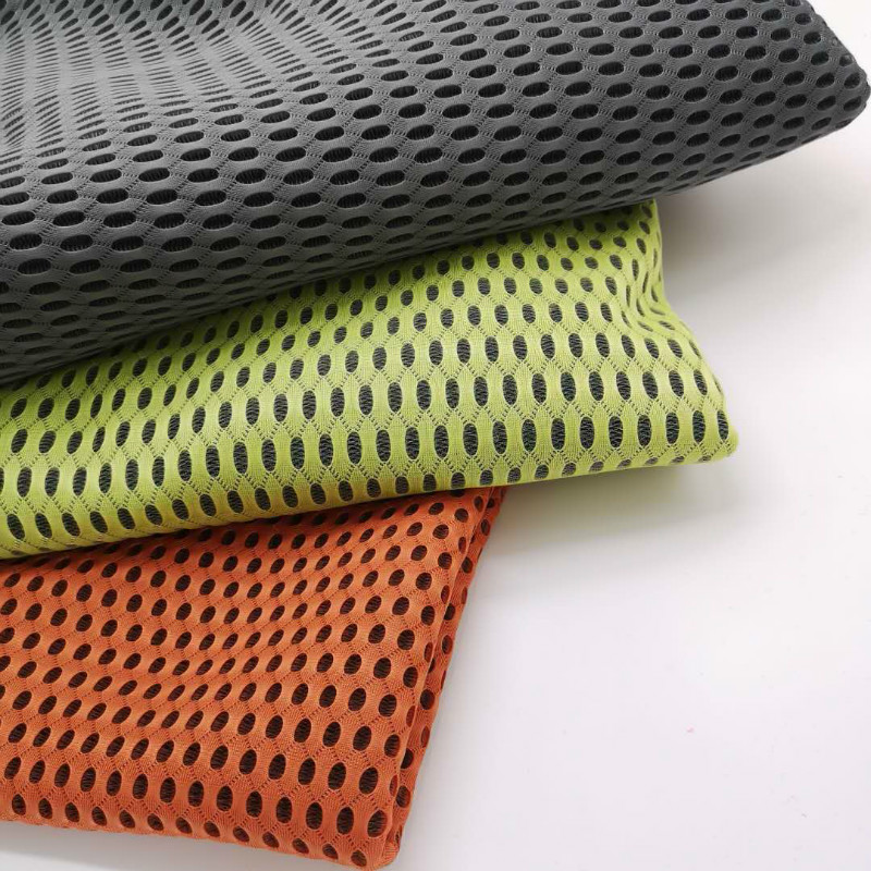 new product 4D air mesh Fabric mattress fabric,hot sale polyester air mesh fabric for shoes and suitcase