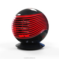 2017 new design red oscilating remote fan table heater