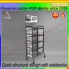 China supplier metal floor beverage display racks