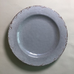 grey color Rustic and Vintage Melamine 11 inch round dinner plate