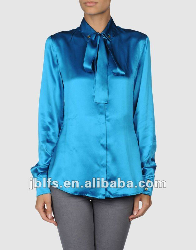 Silk Satin Ladies Neck Design Of Blouse - Buy Latest Design Silk Ladies  Fashon Neck Design Of Blouse,Latest Design Ladies Casual Top,Silk Satin  Ladies