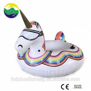 Funny!!! Winter PVC Wholesale Inflatable Unicorn Snow Tube Sled