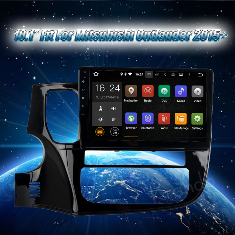 "Krando Android 8.1 10.1"" touch car radio with gps for Mitsubishi Outlander 2015+ radio gps navigation system 2g ram KD-MT115"
