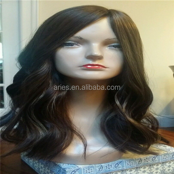 Unprocessed European hair straight stock kosher jewish wigs