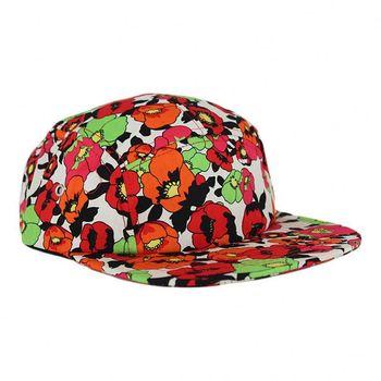 c151f3a15e167 fashion 5 panel camp cap custom print pattern flat brim cap hat biker cycle  hat lined