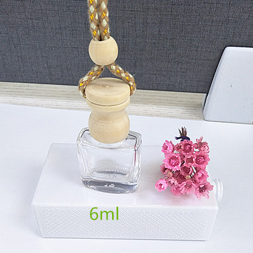High quality empty hanging car air freshener 10ml perfume glass bottle