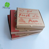 promotional biodegradable wholesale customized flexo printed pizza box/red and green pizza packing carton box with offset print