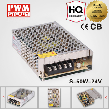 High Efficiency 50w 24v 2a 220vac to 24vdc converter power supply S-50-24