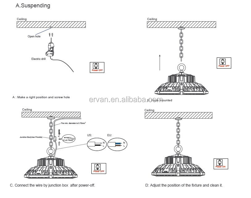 ervan new arrival unique and patent design ufo high bay light led recessed can light wiring diagram ervan new arrival unique and patent design ufo high bay light led the lamp with 3