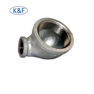 BS10242 Galvanized 90 Degree Reducing Elbow Threaded BSPT 90R Elbow