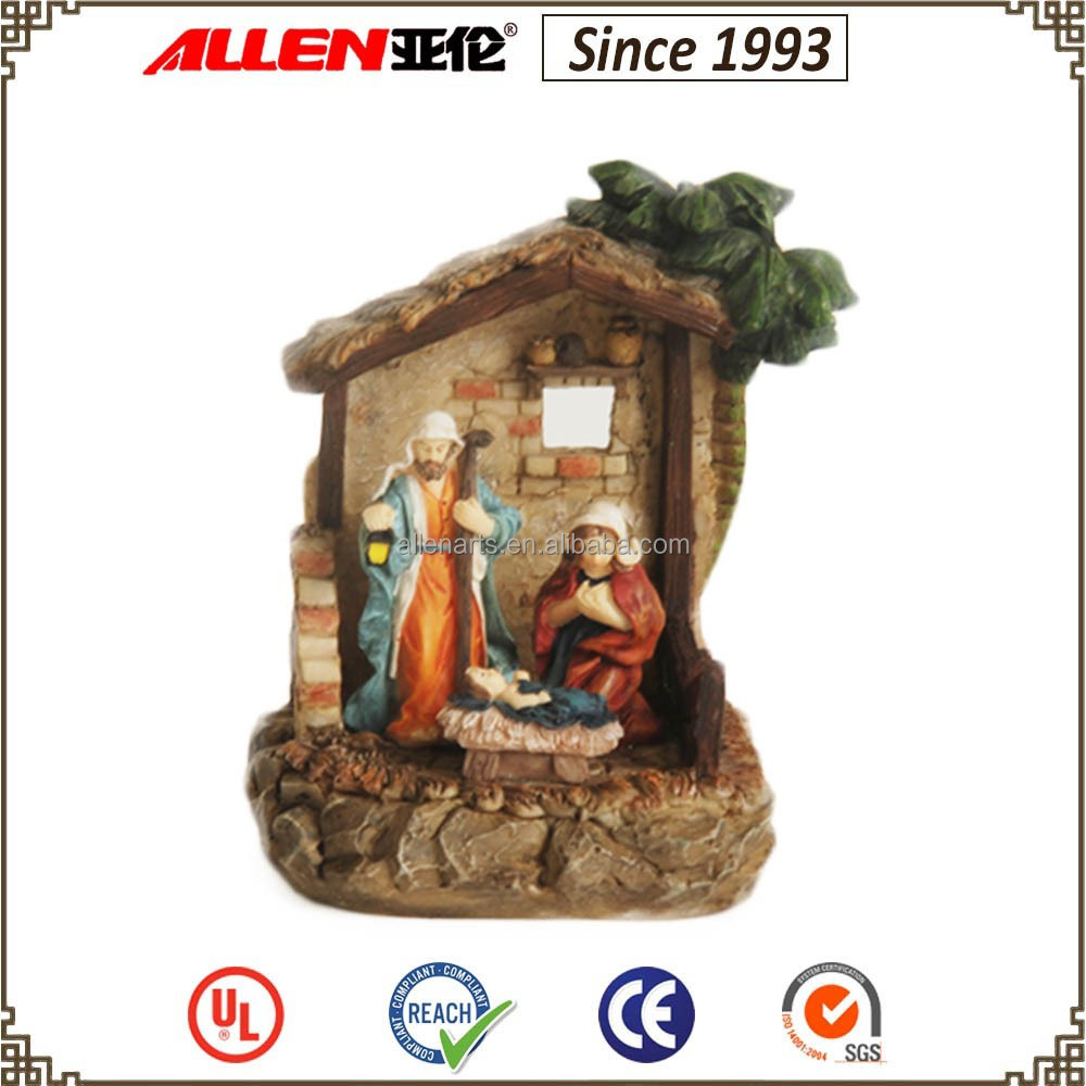 Factory direct resin Christmas Holy Family