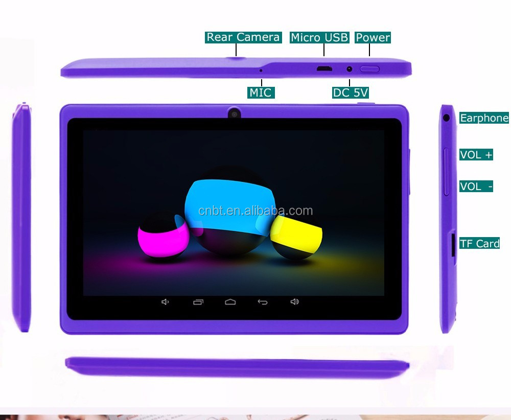 Free Gift 7 inch Quad Core Q88 Allwinner A33 two Camera Android 4.4 512MB/8GB tablet pc Hot sell! 40pcs/lot free shipping