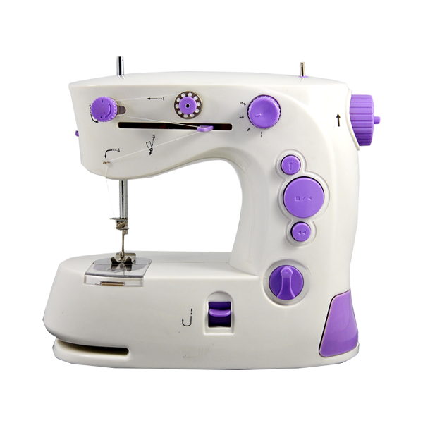 FHSM 201 Mini Handheld Battery Beginner Sewing Machine with extension table