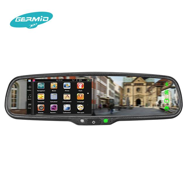 LCD da 4.3 pollici specchio retrovisore con gps bluetooth della macchina fotografica, obd di tracciamento gps speciale per ford fiesta 2009