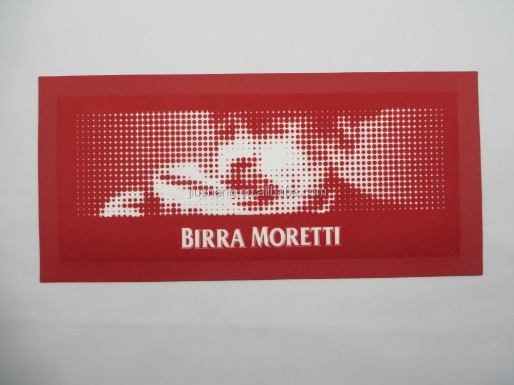 Birra Moretti Rubber Bar Runner Bar Drip Mat