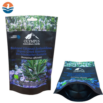Custom Printed OEM Stand Up Pouch Plastic Bag With Zipper