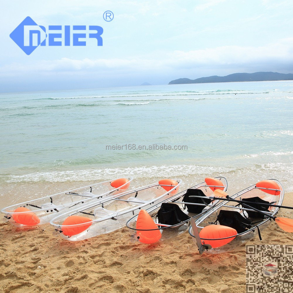 Hot selling transparent 2 person kayak sale