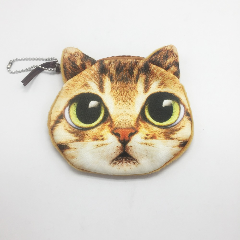 2017 hot sale 3D Animal coin purse cat wallet