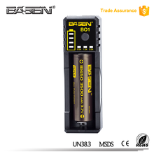 BASEN BO1 0.5A one-slot portable USB charger with max 0.5A current Automatic 16340 18350 18650 18500 26650 batteries