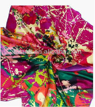 Wildflower, Large Square Satin Silk Scarf