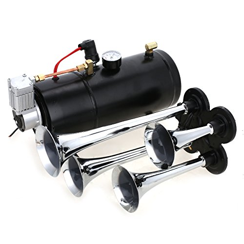 Back To Search Resultsautomobiles & Motorcycles Auto Twin Dual Tone Compact Air Loud Horn 12v 110-125db Compressor Red Truck Car Bus Van Wide Selection; Multi-tone & Claxon Horns