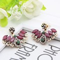 Fashion High Quality Turkish Crystal Earrings Antique Gold Plated 2PCS Wings Earrings Women Jewelry Turkey Retro