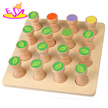 Diy Wooden Memory Puzzle Brain Teasers For Kid,Children Memory Wooden  Jigsaw Puzzle,Best 16pcs Wooden Memory Puzzle W13e055 - Buy Memory  Puzzle,Wooden