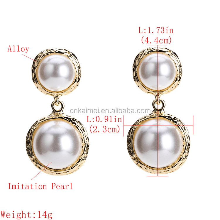 Kaimei 2018 Fashion Jewelry Importers Cultured 18k Gold Pated Pearl  Earrings Korean Style Ladies Pearl Pendant Earring Designs - Buy Pearl