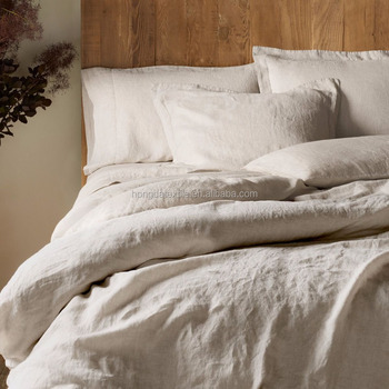 Stone Washed Linen Bedding Set And Bed Sheets