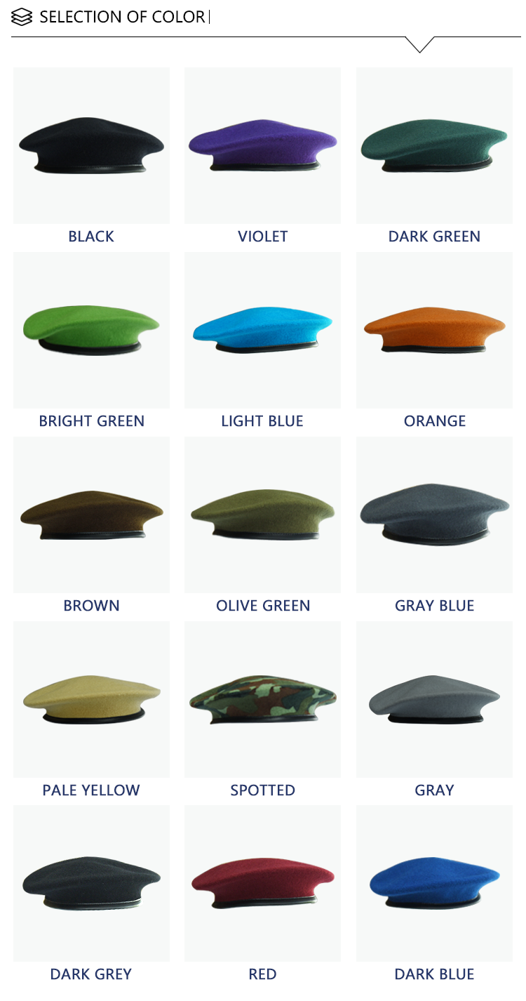 90061fcbcecc0 Wholesale Custom Wool Military Beret Red Police Army Beret Cap - Buy ...