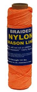 T.W Evans Cordage 12-520 Number-1 Braided Nylon Mason, 500-Feet, Orange