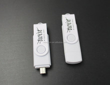China factory price custom different models OTG flash drive / usb key / usb 2.0 with CE, FCC, RoHs