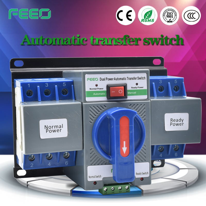 China Hot Sell Dual Power load isolation Safe Changeover Switch with high breaking capacity