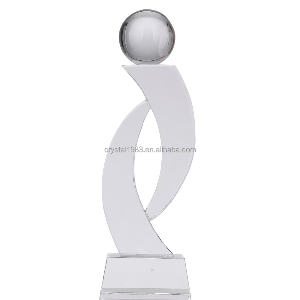 Custom K9 crystal trophy wholesale new design crystal trophy and awards TA0275 Ruiliang Crystal Handcraft Factory