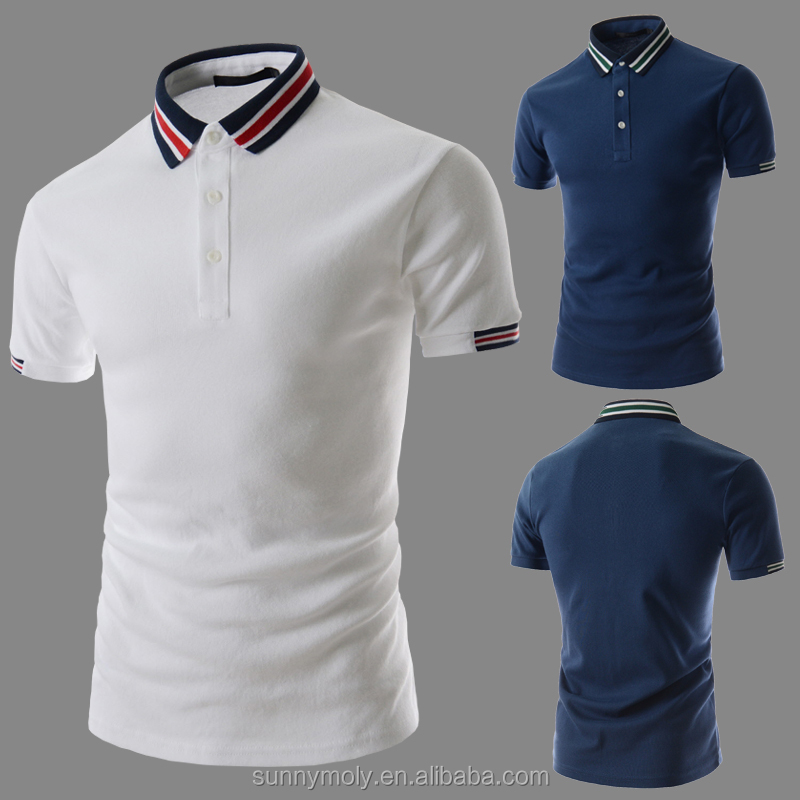 Men's Stylish Slim Short Sleeve Shirts Tee POLO T SHIRT