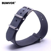 Лидирующий бренд Роскошные мужские часы ремешок 16 18 22 24 мм синий браслет Nato ткань нейлон Ремешки для наручных часов Ремень Пряжка ремень(Китай)