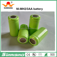 Sunrising wholesale 2/3aa 100mAh NI-MH Industrial Rechargeable Battery Pack
