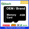 Passed CE ROHS REACH T Flash 4GB Memory Card For CNC Machine