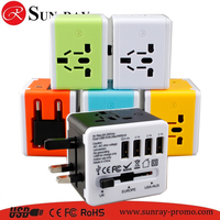 cheap price creative premium gift 4 port usb travel adapter with full color logo porinting on
