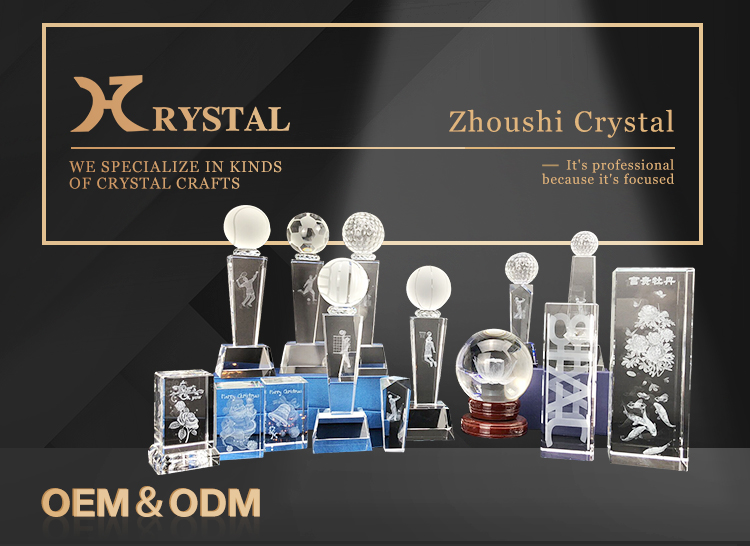 New Products Transparent Cartoon Gifts Crystal Block 3D Glass Photo Cube