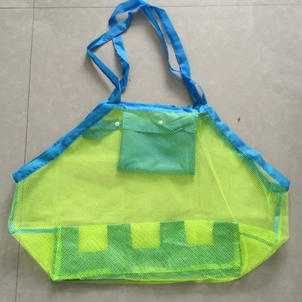 Mesh Beach Bags Beach Mesh Tote Bag,Children Toy Tote Bag,Lightweight Storage Bag for Kids Women Men