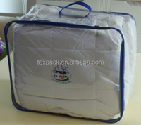 clear pvc plastic bedding packaging custom printed ziplock bags wholesale