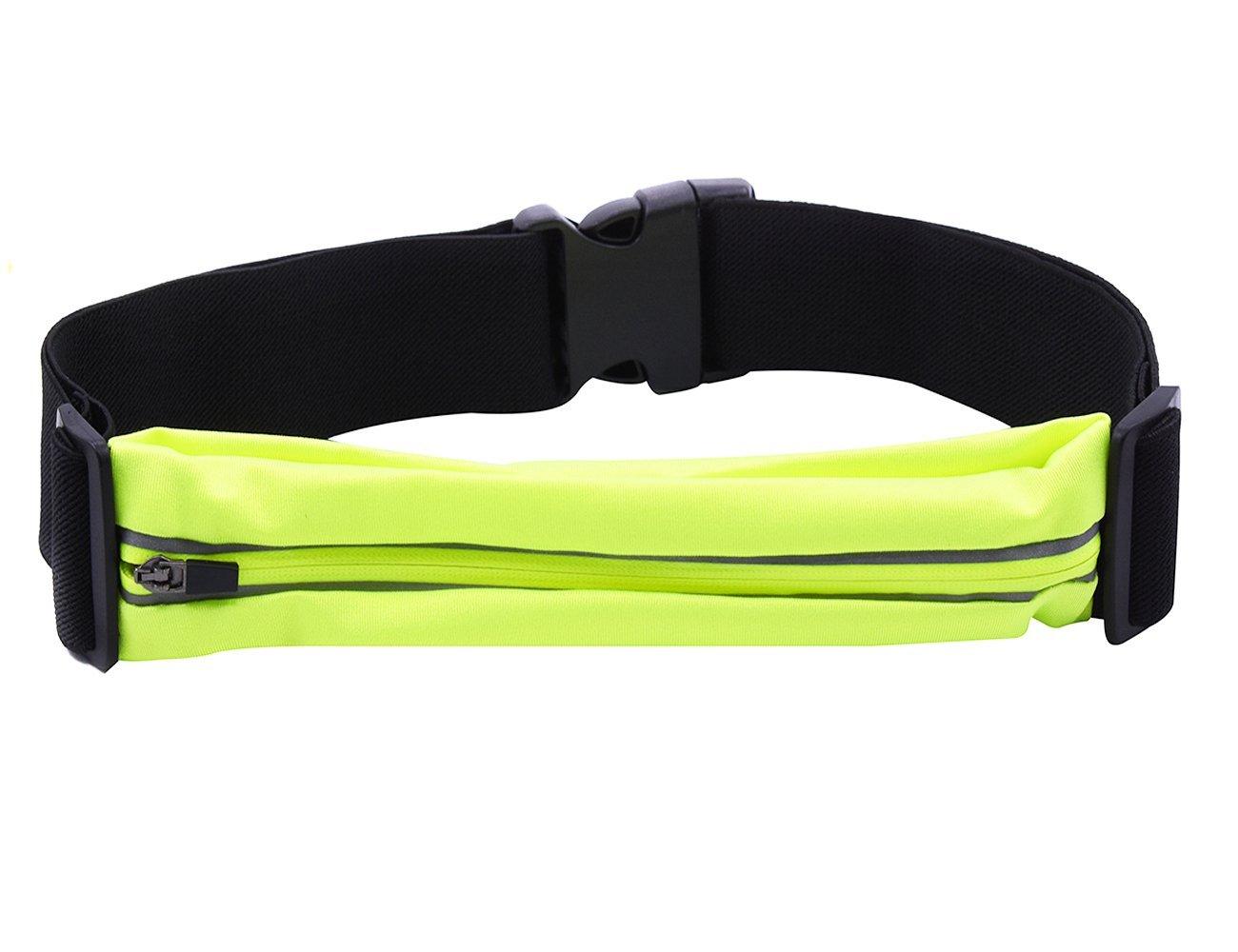 LEGERSFASHION Outdoor Flexible Running Fuel Belt & Fitness Workout Belt for Women and Men - Best Exercise Waist Pack - Sports Travel Money Belt - Fanny Pack Runner Safety Reflective Waist Belt