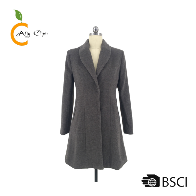 2018 trendy style custom spring jacket reliable reputation fairly lightweight women's wool trench winter long coat