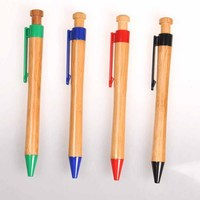 Stationery logo olive promotion carved wood pen