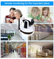 Factory directly offer wireless wifi gsm home security alarm system with pir motion sensor