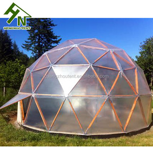 Clear Aluminum Steel Frame PVC Waterproof Greenhouse Geodesic Dome Tent Making Supplies