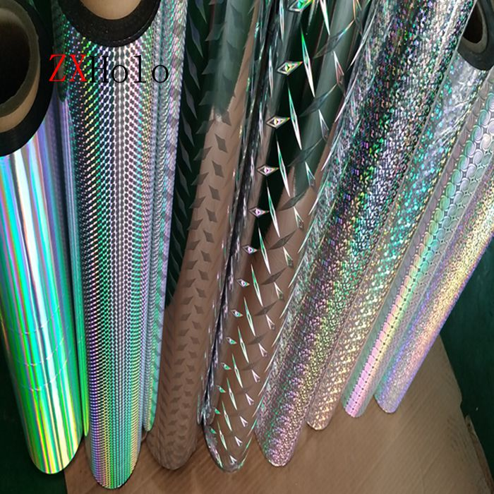 Hot sell holographic thermal lamination roll film for laminated paperboard and make different boexes