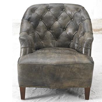 Handmade Hotel Studded Leather Armchair Vintage Style