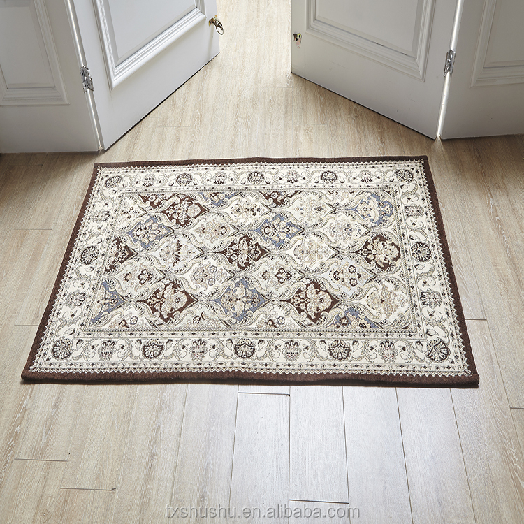 Cheap wholesale good quality jacquard carpet double colors traditional carpets